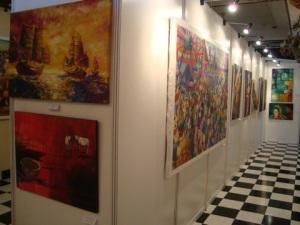 Dua diantara lima lukisan SPC yang dipamerkan